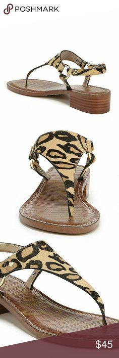 fe6c782bf Sam Edelman Brown Jude Leopard T-strap Sandals Sam Edelman Womens Brown  Jude Leopard T