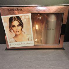 O perfume da atriz Juliana Paes é um presente perfeito para quem tirou uma mulher no amigo secreto. O kit é da Laffayette e está por R$99,90