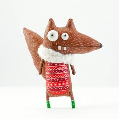 Christmas squirrel by MarLitoys on Etsy