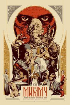 """MP1295. """"The Mummy"""" Alternative Movie Poster by Martin Ansin (Karl Freund 1932) / #Movieposter:"""