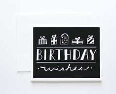 Birthday Wishes Card by The Paper Cub Co. #screenprint