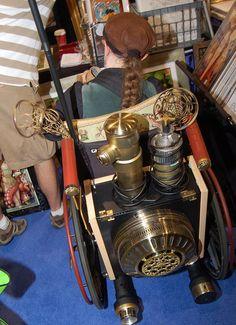Comic Con 2010: Steampunk Wheelchair by earthdog, via Flickr