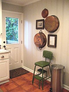 Love the painted knotty pine walls!