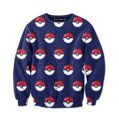 Capture Balls Sweatshirt- loooooooooooooves it!