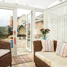 Take a tour of this coastal-style town house Conservatory House, Modern Conservatory, Outdoor Furniture Sets, Outdoor Decor, Home Room Design, Coastal Style, House Rooms, Porch Swing, Ideal Home