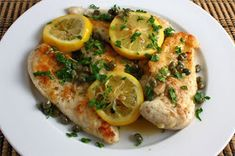 Chicken Picatta - Can replace wine w/broth to make 30 day friendly