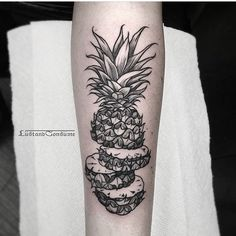 unique pineapple tattoo -`pinterest ❀ abkatherine´- #pineappletattoo