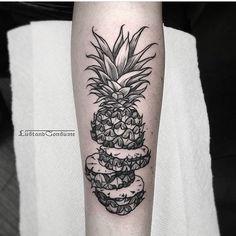unique pineapple tattoo -`pinterest ❀ abkatherine´- #pineappletattoo