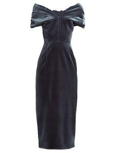 85195e3d5df6 Click here to buy Emilio De La Morena Tamara off-the-shoulder velvet dress
