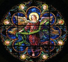 Tiffany, Angel, Rose Window, St. Saviour, Bar Harbor
