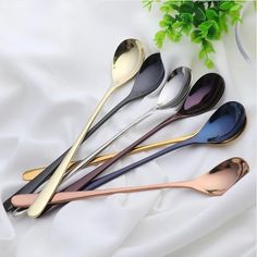 New arrive Food grade Ice Cream spoons Tea Coffee spoon Long Handle Stainless Steel Spoons for wedding party tableware. Category: Home & Garden. Kitchen Tools, Kitchen Gadgets, Kitchen Stuff, Kitchen Appliances, Silver Cutlery, Flatware, Ice Cream Spoon, Food Storage Boxes, Kitchenware
