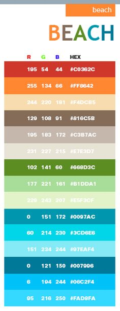 beach in hex  and rgb code - beach colors for the bathroom