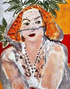 Henri Matisse -. Mulher com um Véu de 1942 Óleo sobre tela, 55 x 46 cm. Metropolitan Museum of Art, New York, EUA