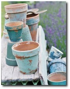 Painted Terra Cotta Flower Pots, Wood Outdoor Furniture, Painted Patio Furniture, Antique Wood Painted Furniture, Paint Colors, Patio Furniture Ideas