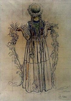 Girl With A Garland of Flowers (1908) Carl Larsson
