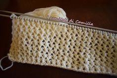 How to knit the net stitch: Camilla's tutorials – Crafts Ideas Camilla, Crochet Stitches Chart, Knitting Stitches, Knitting Designs, Knitting Patterns, Knitting Videos, Easy Knitting, Crochet Wool, Knit Stitches