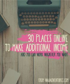 Make your second job an online job and work when you want!