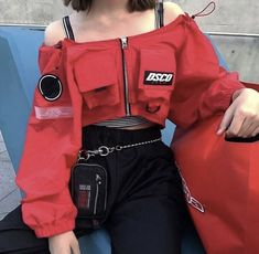Korean Fashion Trends you can Steal – Designer Fashion Tips Edgy Outfits, Mode Outfits, Korean Outfits, Grunge Outfits, Grunge Fashion, Girl Outfits, Fashion Outfits, Fashion Trends, Korean Clothes