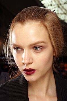 another dark lip and nude eyes at rochas