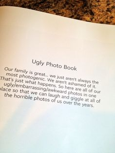 Ugly photo book - sublime-decor