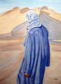Ours Grizzly, Arabian Art, Art Girl, Watercolor Art, Deserts, Pastel, Silhouette, Fine Art, Art Prints