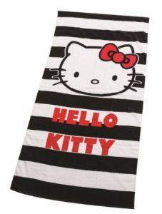 hello kitty beach towel black and white