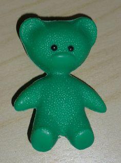 2x Teddy ✿ grün + gelb Plastik 70iger ✿ DDR von alles.DABEI vintage auf DaWanda.com