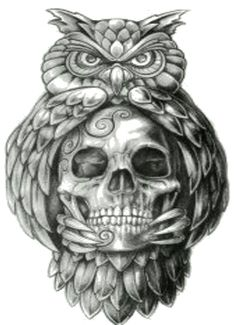 Papirouge tattoo drawings skull tattoo owl tattoo fine … – Картинки … - Famous Last Words Owl Skull Tattoos, Owl Tattoo Drawings, Tattoo Sketches, Leg Tattoos, Arm Tattoo, Body Art Tattoos, Tattoos For Guys, Sleeve Tattoos, Tattoo Owl