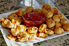 Pizza Pinwheels - a great tailgate food that everyone will love!