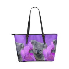 Koala Leather Tote Bag/Large. FREE Shipping. #artsadd #bags #koala