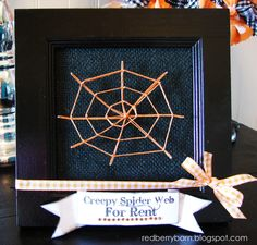 Redberry Barn: Spider Web String Art
