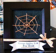 Redberry Barn: Spider Web String Art