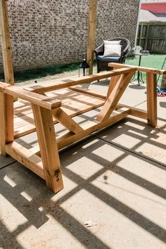 One of Angela and I's favorite part about our house is our backyard, patio, and our DIY Outdoor Dining Table. A guide to a DIY table and bench. Diy Dining Room Table, Patio Table, Diy Table, Wood Table, Picnic Tables, Wooden Dining Tables, Backyard Patio, Diy Garden Table, Diy Outdoor Table