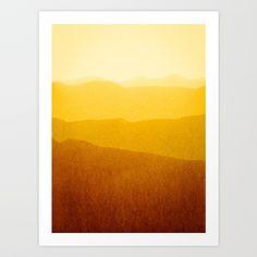 gradient landscape - sunshine edit Art Print by Iris Lehnhardt - X-Small Artwork Prints, Fine Art Prints, Affordable Art, Buy Frames, Art Pictures, Sunshine, Gallery Wall, Just For You, Landscape