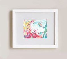 So cheerful and summery! I can't help smiling when I look at this print! ... Summer Flower Garden 11x14 art print bright by CortneyNorth, $35.00