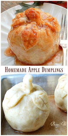 Homemade Apple Dumplings via @https://www.pinterest.com/BunnysWarmOven/bunnys-warm-oven/