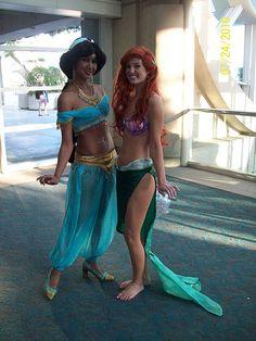 Ariel Halloween Costume, Best Friend Halloween Costumes, Halloween Cosplay, Halloween Ideas, Olaf Halloween, Olaf Costume, Halloween Stuff, Disney Cosplay, Disney Costumes