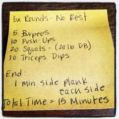 at home crossfit workout