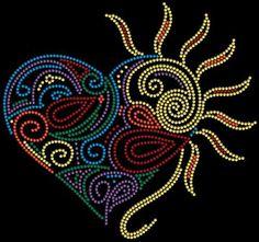 "Amazing Heart  Height: 8.75""  Width: 9.25"" Mandala Rocks, Mandala Art, Rhinestone Art, Rhinestone Transfers, Tiffany Art, Indian Quilt, Hand Painted Rocks, Rock Design, Sewing Rooms"