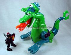 Fisher Price Great Adventure Sea Serpent Fire Breathing 2 Headed Dragon 97-98