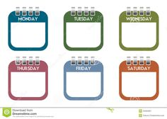 days of the week clipart - Google Search