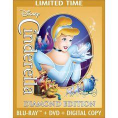 Cinderella (Diamond Edition) (3 Discs) (Blu-ray/DVD) (Includes Digital Copy) (Restored / Remastered)