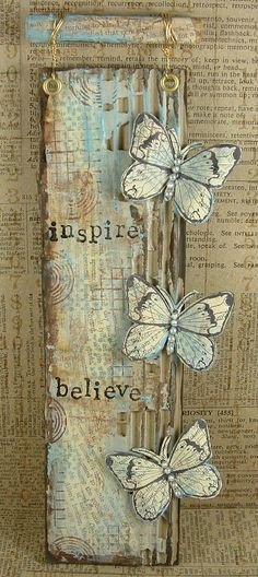 Believe in Butterflies by Trish Latimer on her Ink, Paint, Beads blog.