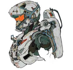 """nagunkgunk: """" here she is… holly tanaka… by robogabo from the halo 5 artbook """" Game Character Design, Character Concept, Character Art, Cyberpunk Character, Cyberpunk Art, Space Armor, Halo Armor, Robots Characters, Halo 5"""