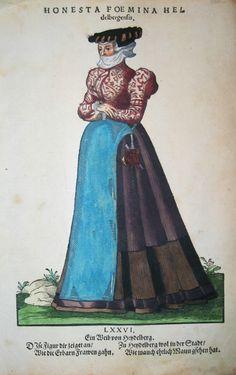Jost Amman für Hans Weigel - HEIDELBERG: Honesta Foemina Heidelbergensis. Ein Weib von Heydelberg 1577 http://www.pahor.de/data/product-list/53683.jpg