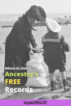 Where to Find Ancestry's Free Records. Some of the genealogy research resources on Ancestry can be accessed without a subscription. Here's how to find them. Ancestry Free, Free Genealogy Sites, Genealogy Research, Family Genealogy, Genealogy Organization, Family Organizer, Family Search, Family History, Bespoke