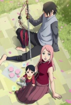 sasuke e sarada Anime Naruto, Naruto Amor, Yandere Anime, Naruto Cute, Naruto Funny, Naruko Uzumaki, Sasuke Uchiha, Sasuke Sakura Sarada, Sasunaru