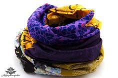 Loopschal Loop gelb lila - ein absolutes Lieblingsstück aus der Lieblingsmanufaktur