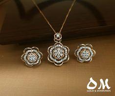 Diamond Pendant Necklace, Diamond Jewellery, Gold Earrings Designs, Latest Jewellery, Ear Rings, Pendant Set, Designer Earrings, 18 Months, Earring Set