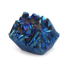 Titanium Indigo Quartz Cluster  Blue Mineral by ABSBeadSupplies